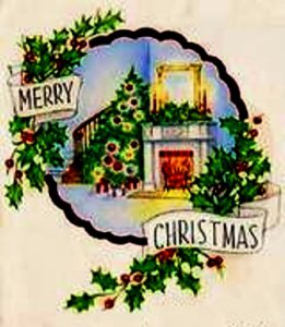 Christmas-fireside